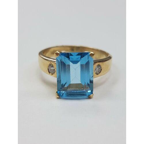 Gyémánt, topáz gyűrű