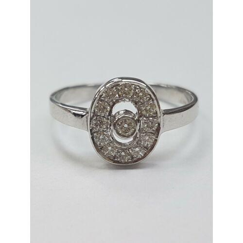 Fehér arany gyémánt gyűrű