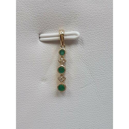 Gyémánt, smaragd medál