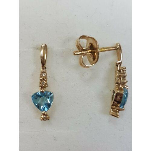 Gyémánt, topáz fülbevaló