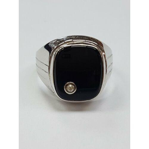 Fehér arany pecsét gyűrű
