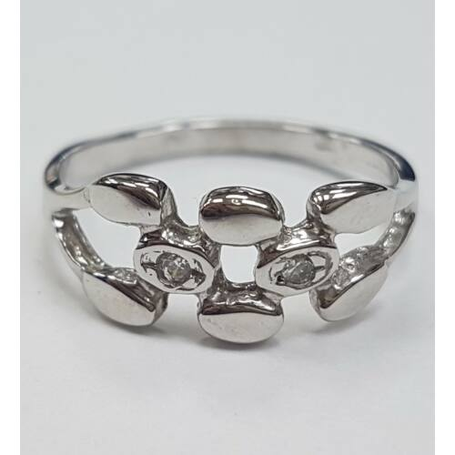 Fehér arany gyűrű