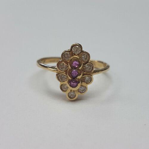 Arany, rózsaszín köves gyűrű