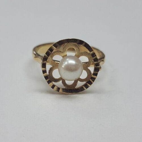 Arany, tenyésztettgyöngyös gyűrű