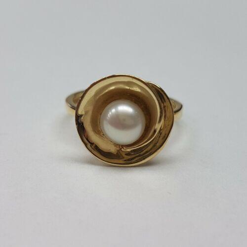 Arany tenyésztett gyöngyös gyűrű