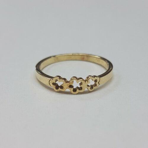 Arany virágos gyűrű