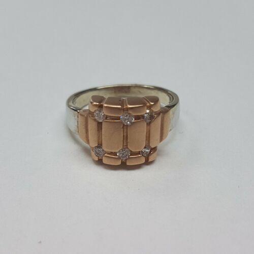 Fehér és rose arany gyűrű