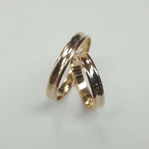 Sárga fehér rozé arany karikagyűrű