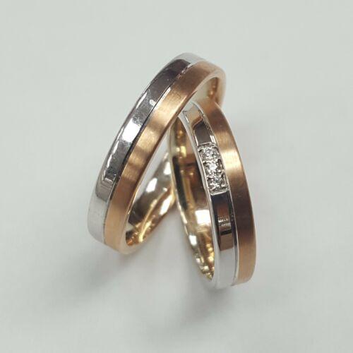Rozé fehér arany karikagyűrű
