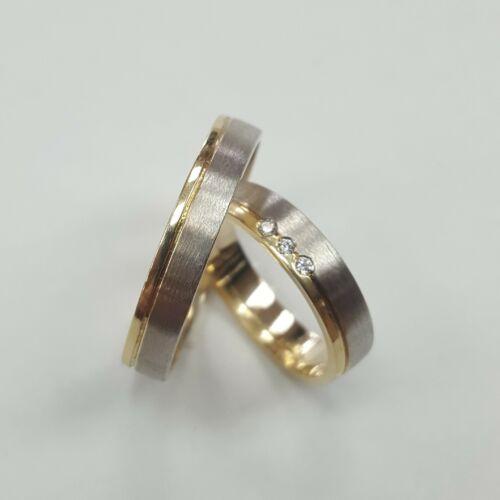 Fehér sárga arany karikagyűrű