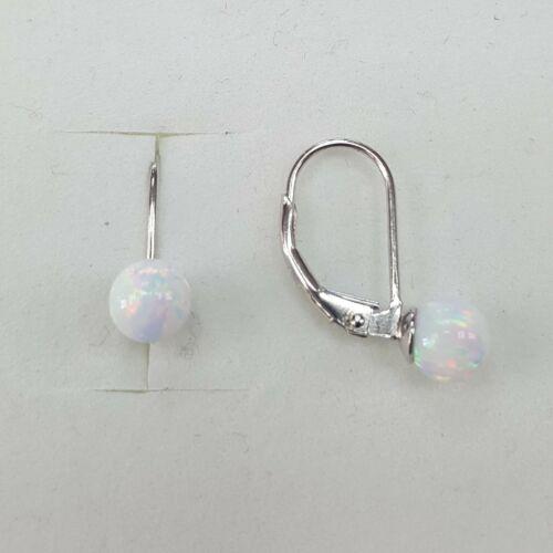Fehér Opál ezüst fülbevaló